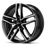 Alutec Ikenu Diamond Black Front Polished 8xR18 ET43 5*112 D66.5