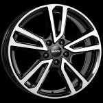 Alutec Tormenta Diamond Black Front Polished 8xR19 ET38 5*112 D66.6